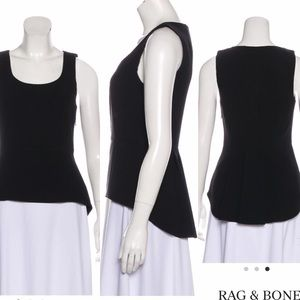 rag & bone black peplum sleeveless top 🖤